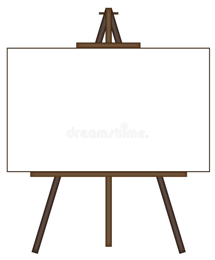 Leeg canvas op schildersezel vector illustratie
