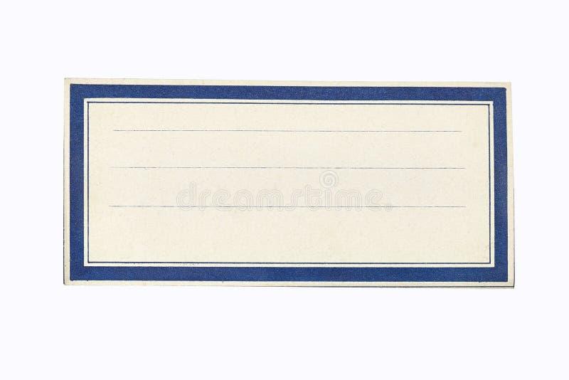 Leeg Certificaat met Blauwe Grens royalty-vrije stock foto
