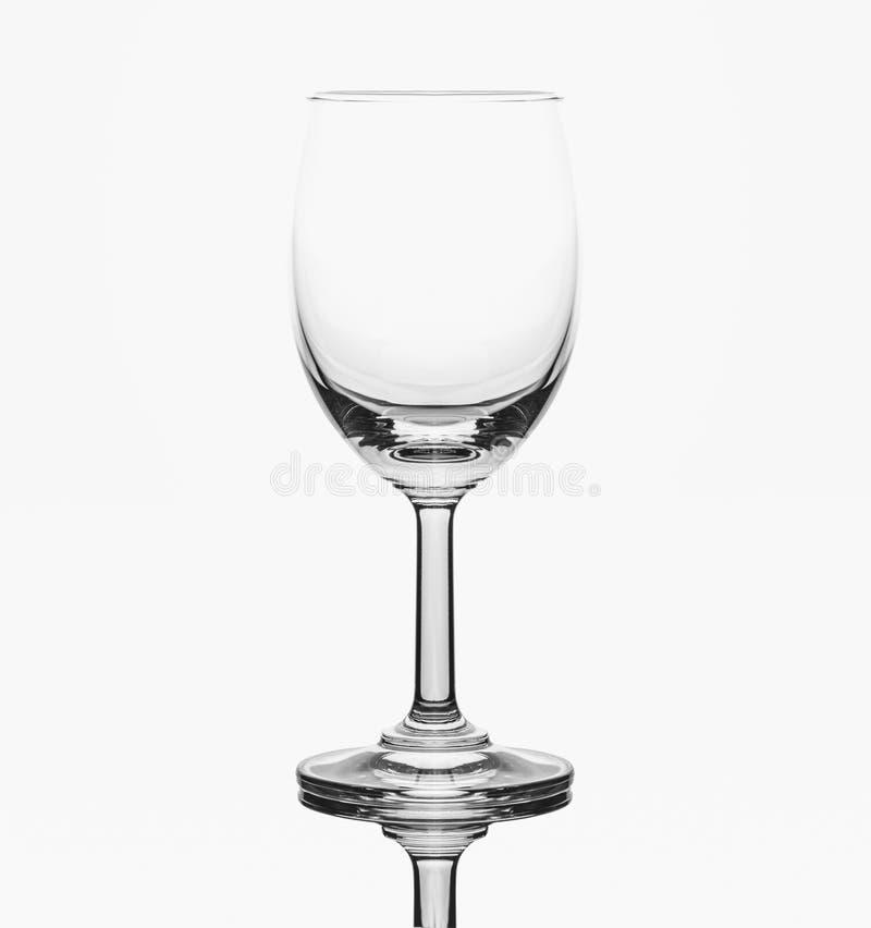 Leeg cognacglas op witte grond royalty-vrije stock foto's