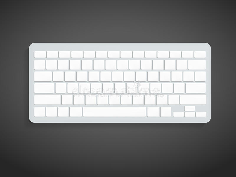 Leeg Computertoetsenbord royalty-vrije illustratie