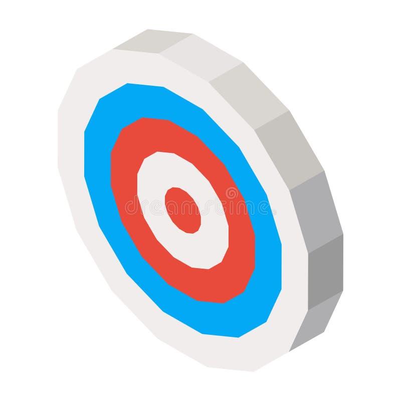 Leeg dartboard met blauwe en rode lijnen Vector 3d illustratie vector illustratie