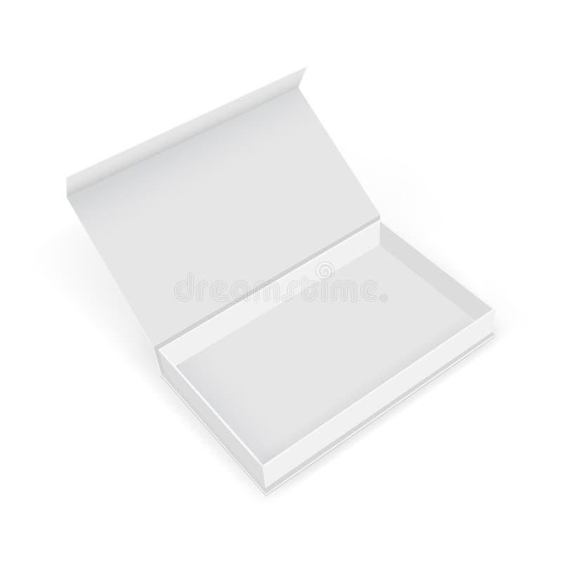 Leeg de doosmodel van de karton rechthoekig gift met open deksel royalty-vrije illustratie