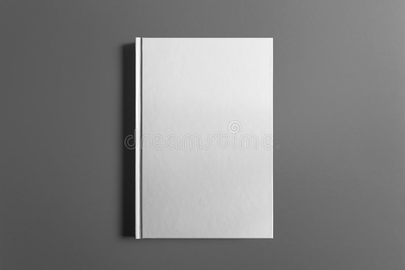 Leeg die boek op grijs wordt geïsoleerd royalty-vrije stock fotografie