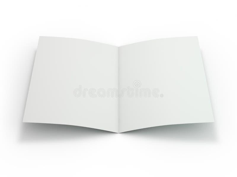 Leeg die Brochuretijdschrift wordt geïsoleerd om uw ontwerp te vervangen 3d vector illustratie