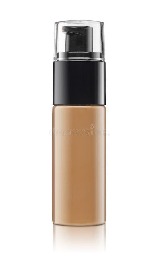 Leeg die cosmetische product over een wit wordt geïsoleerd stock foto's