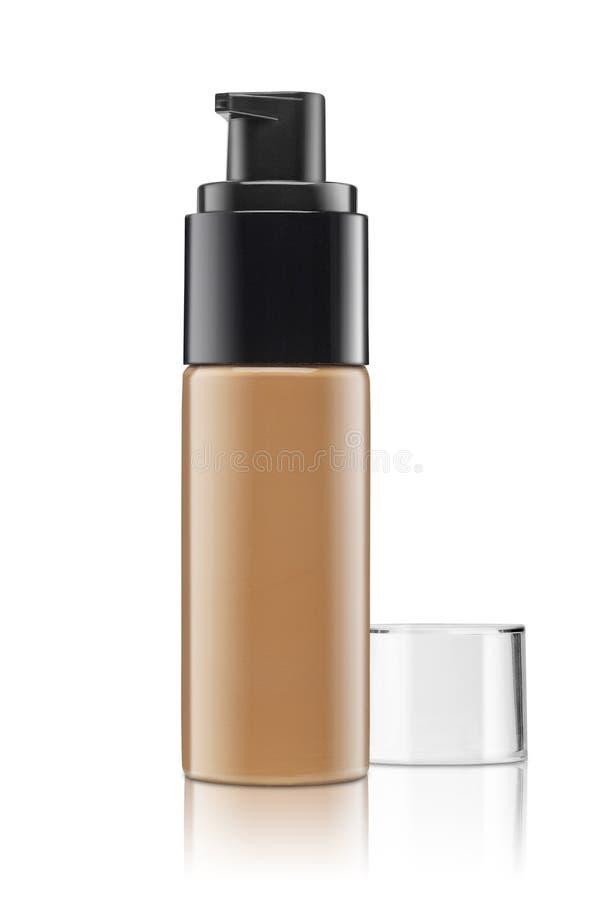 Leeg die cosmetische product over een wit wordt geïsoleerd royalty-vrije stock fotografie