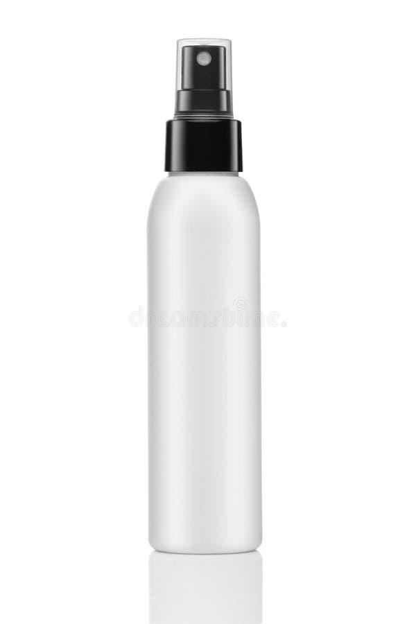 Leeg die cosmetische product over een wit wordt geïsoleerd royalty-vrije stock afbeeldingen