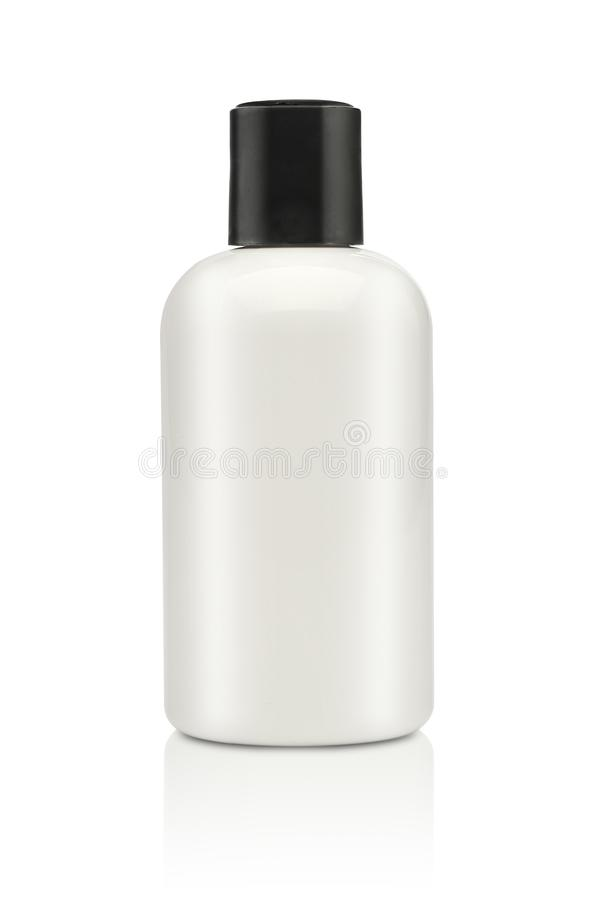 Leeg die cosmetische product over een wit wordt geïsoleerd royalty-vrije stock foto