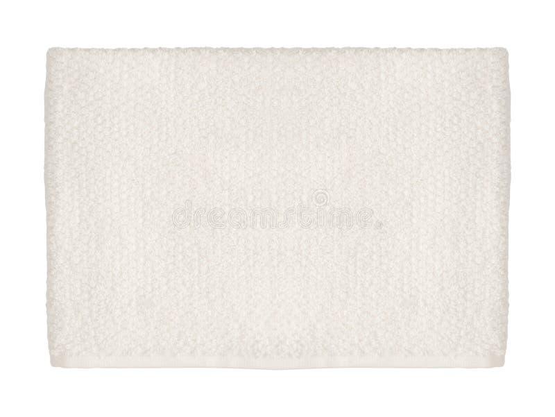 Leeg die document servet op wit wordt geïsoleerd stock fotografie