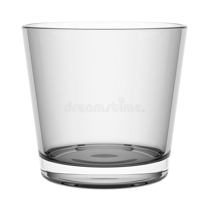Leeg die wiskyglas op wit wordt geïsoleerd vector illustratie