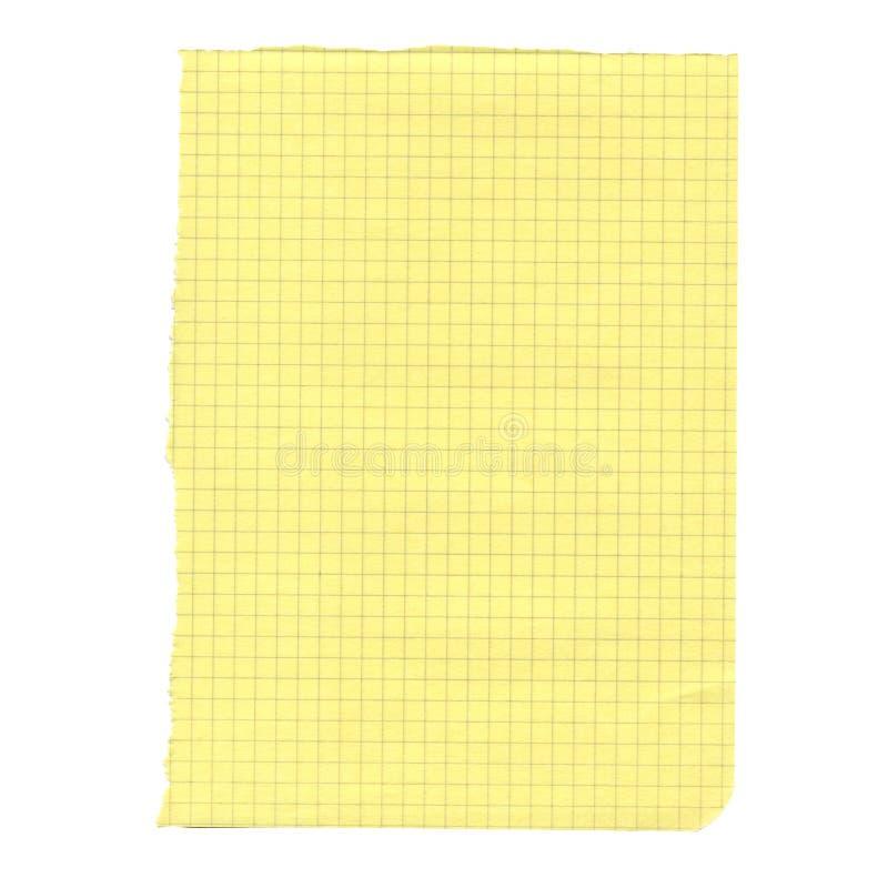 Download Leeg document stock afbeelding. Afbeelding bestaande uit geel - 39116121