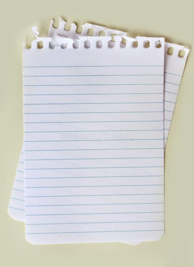 Leeg Document royalty-vrije stock foto's