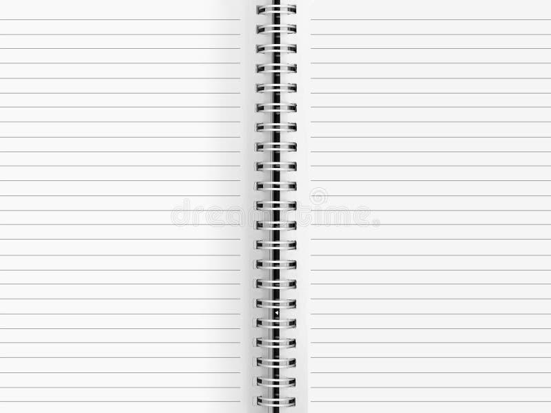 Leeg document bindmiddel stock afbeelding