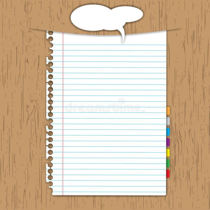 Leeg document blad stock illustratie