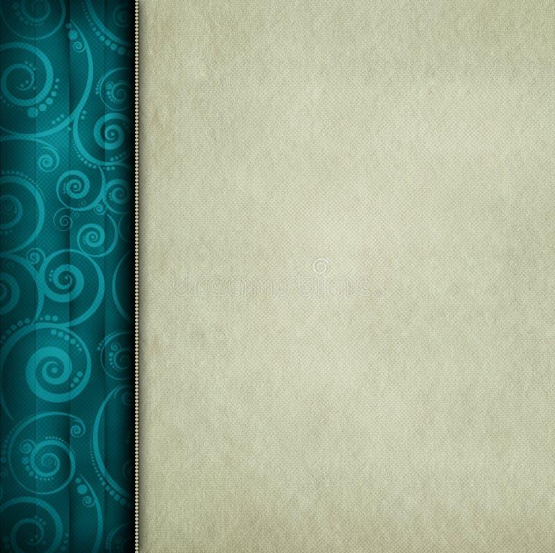 Leeg document blad en gevormde achtergrond royalty-vrije illustratie