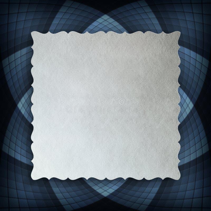 Leeg document blad op blauwe rozet stock illustratie