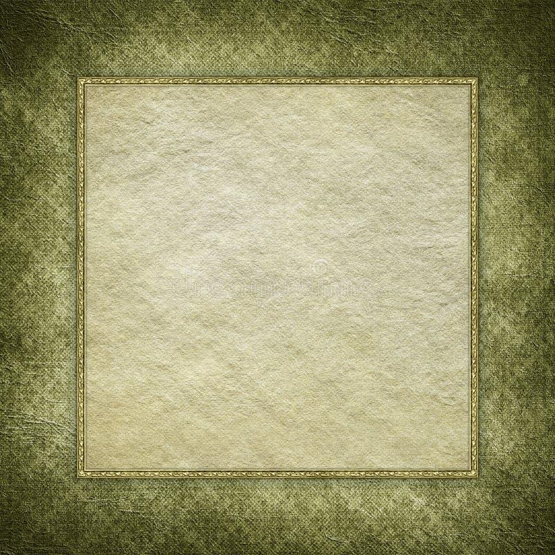 Leeg document blad op grungeachtergrond vector illustratie
