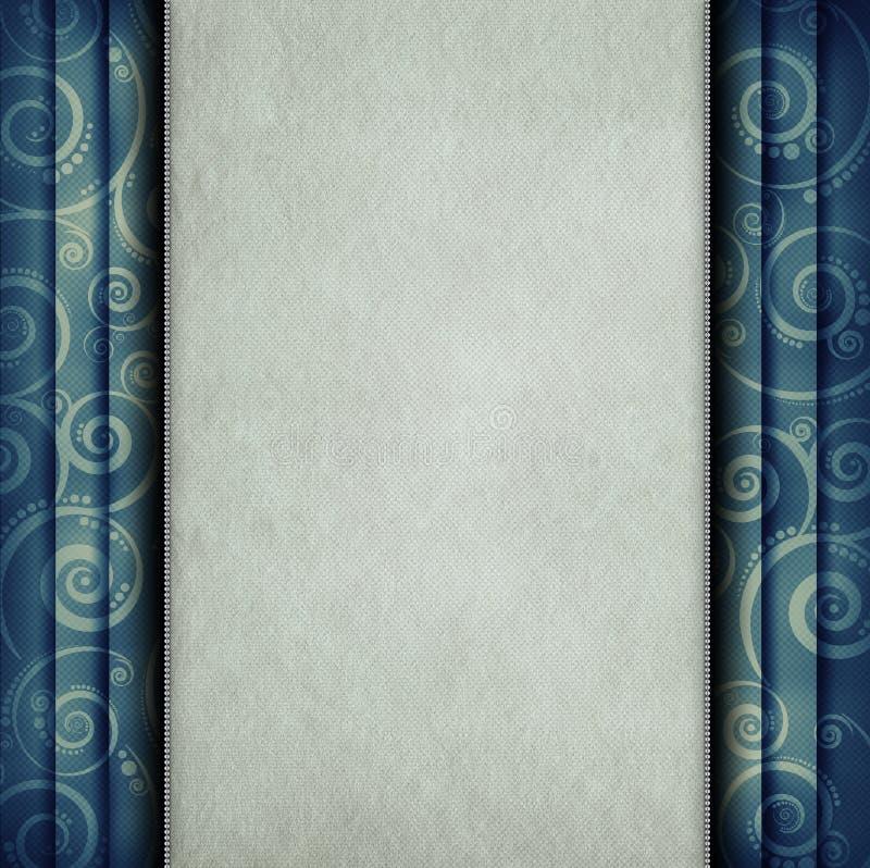 Leeg document blad op retro achtergrond vector illustratie