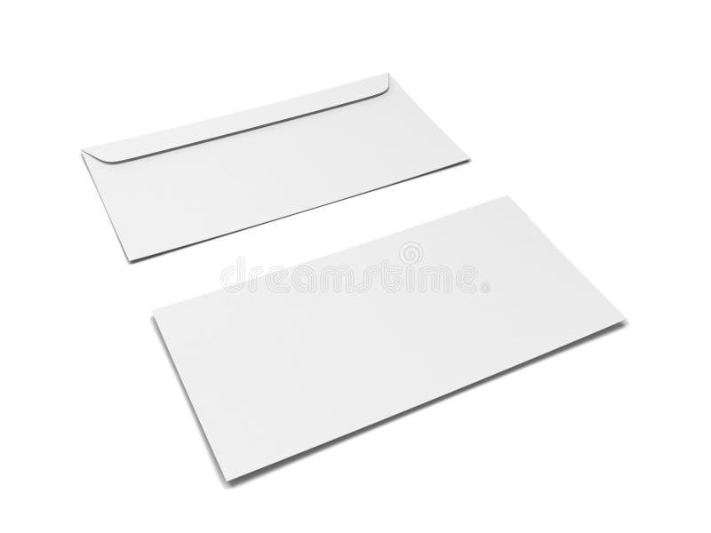 Leeg document envelopmodel stock illustratie