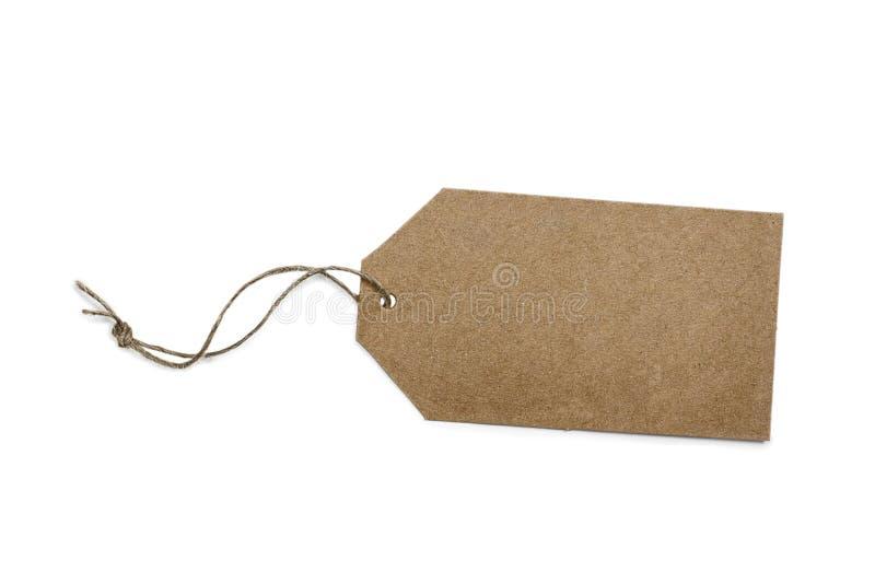 Leeg document prijskaartje of etiket dat op wit wordt geïsoleerd royalty-vrije stock afbeelding