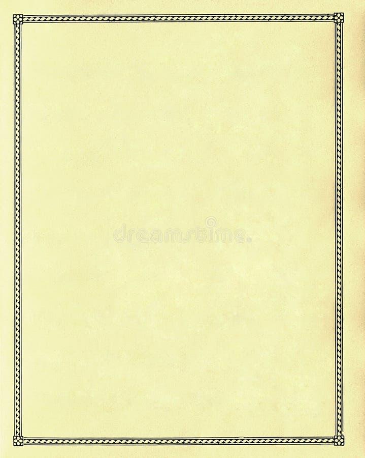 Leeg document - vlakte stock foto
