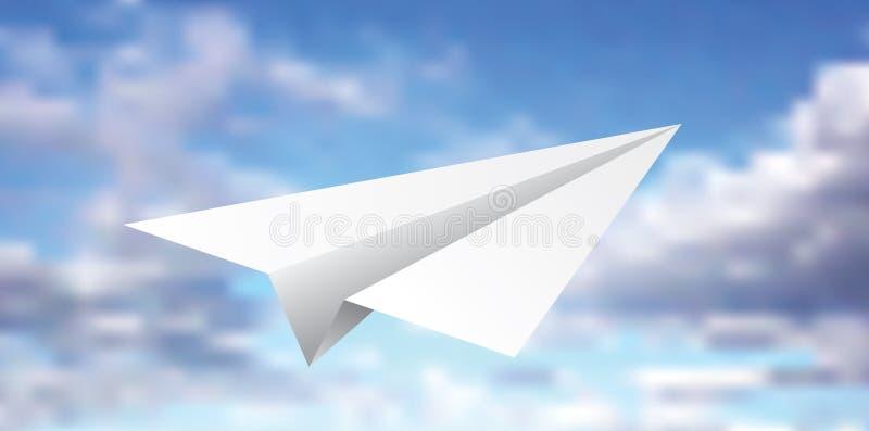 Leeg document vliegtuig stock illustratie
