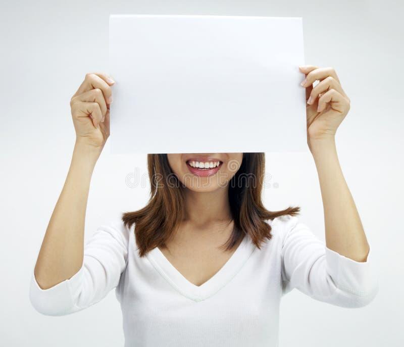 Leeg document voor reclame royalty-vrije stock fotografie