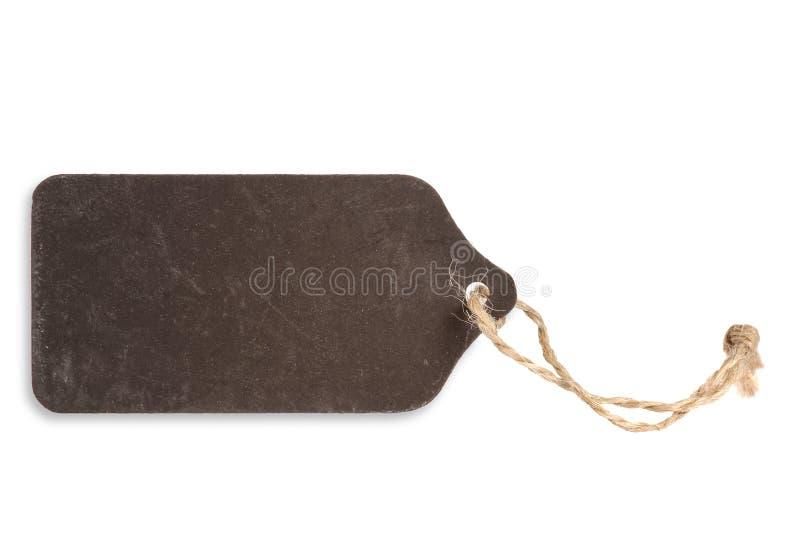Leeg donker etiket, bord royalty-vrije stock foto