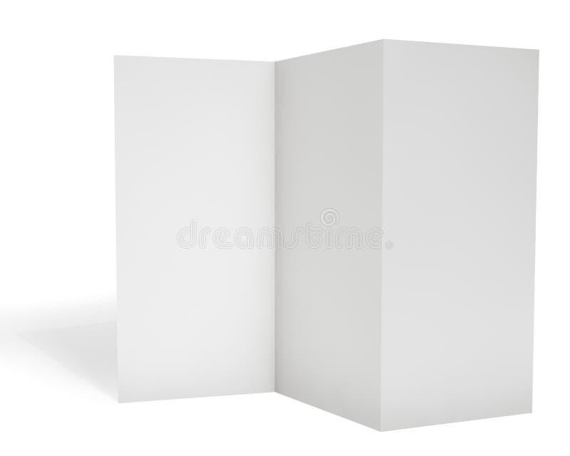 Leeg drievoudig pamfletmalplaatje stock illustratie