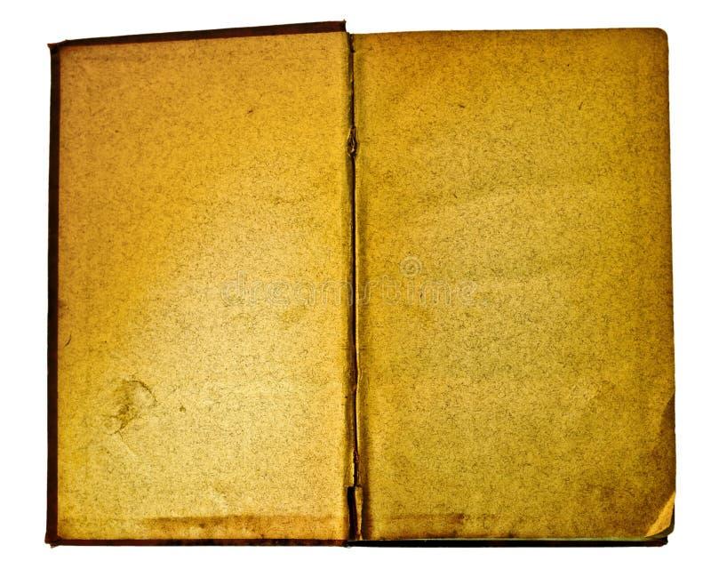 Leeg en antiek open boek royalty-vrije stock foto's
