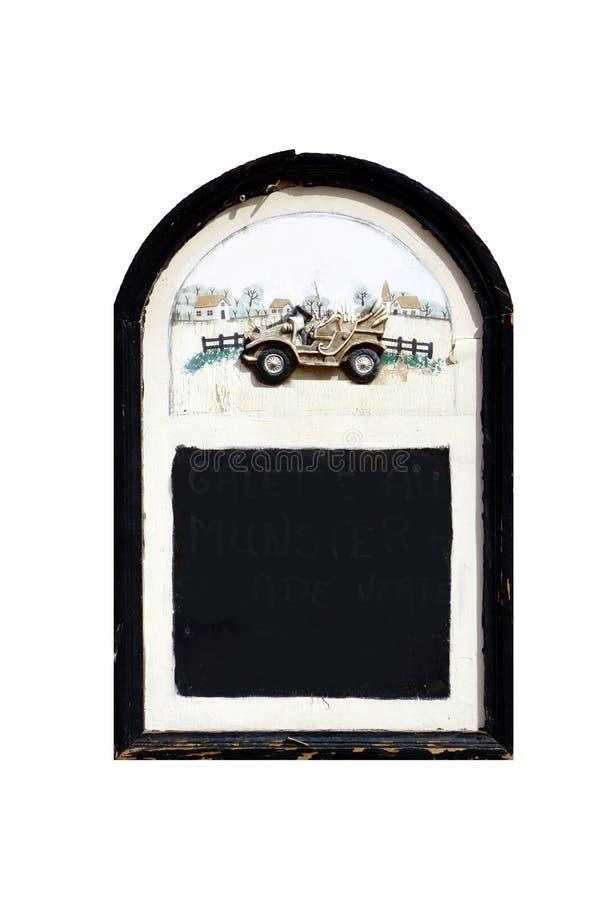 Leeg en geïsoleerd bord stock foto's