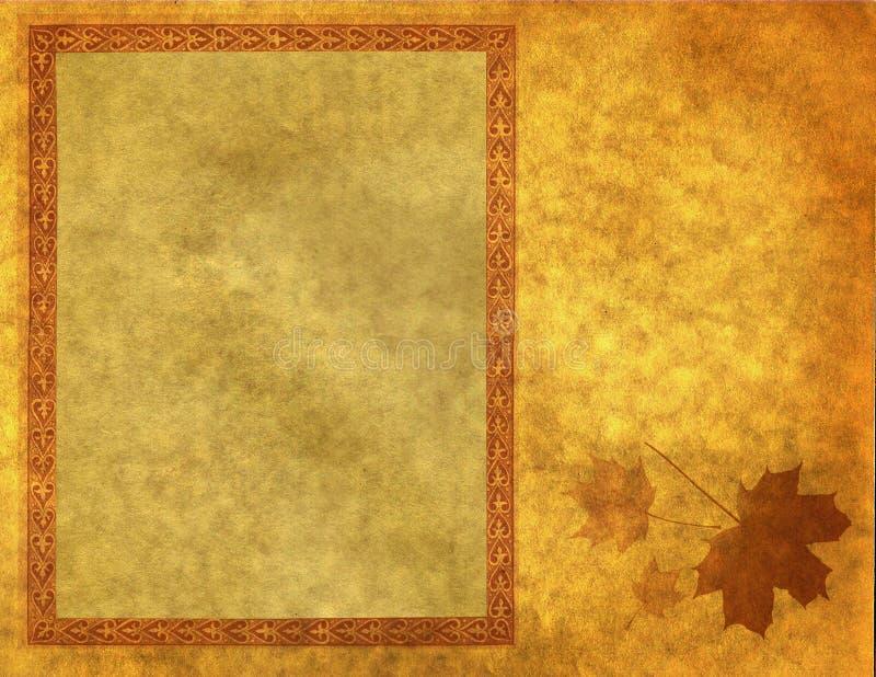 Leeg frame op gouden document royalty-vrije illustratie