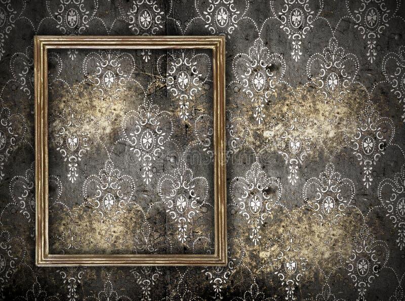 Leeg frame op muur stock foto's