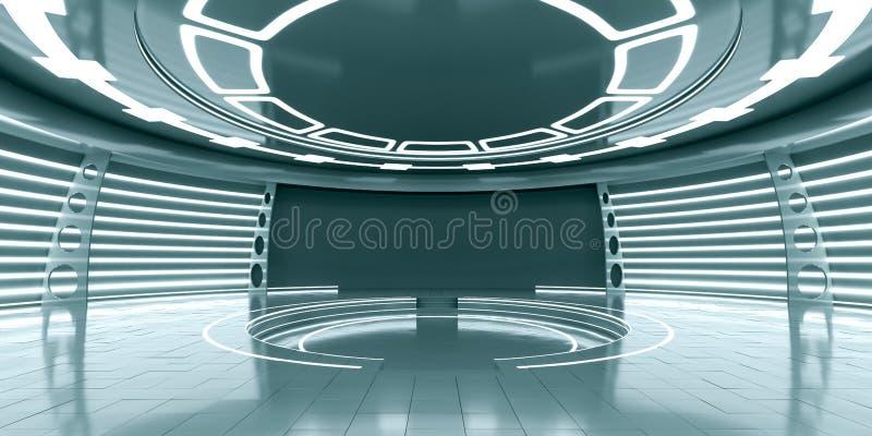 Leeg futuristisch binnenland royalty-vrije illustratie