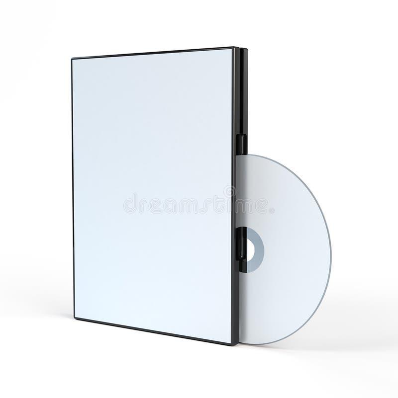 Leeg geval DVD en schijf royalty-vrije illustratie