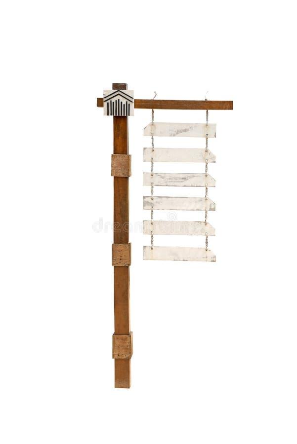 Leeg gidspost of tekenhout stock afbeelding