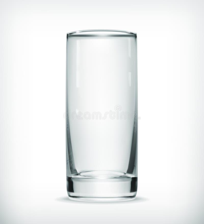 Leeg glas vector illustratie