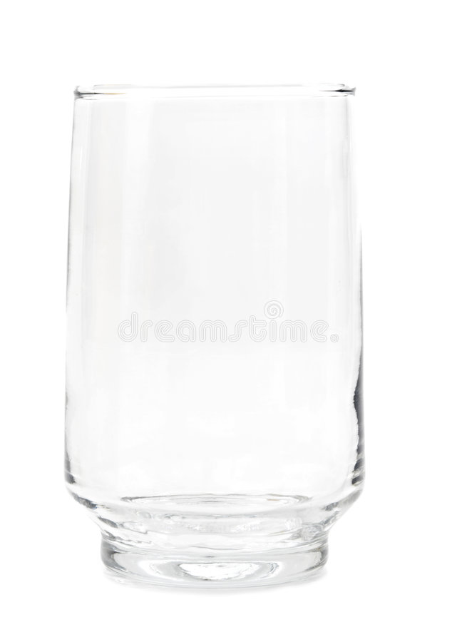 Leeg glas stock foto