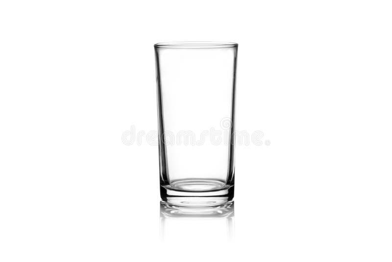 Leeg glas dat op witte achtergrond wordt geïsoleerdd royalty-vrije stock afbeelding