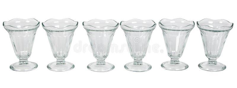 Leeg glasroomijs stock afbeeldingen