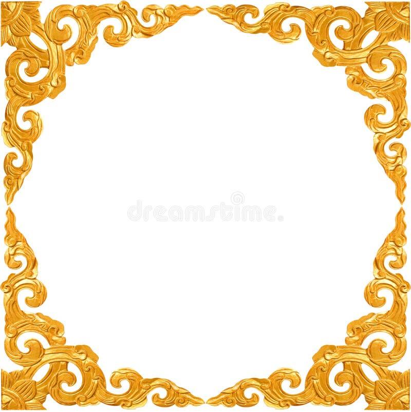 Leeg gouden uitstekend frame royalty-vrije stock fotografie
