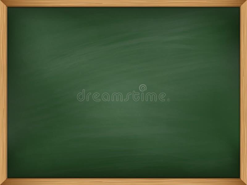 Leeg groen bord met houten kader malplaatje royalty-vrije illustratie