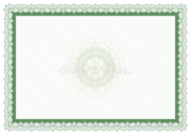 Leeg groen certificaat