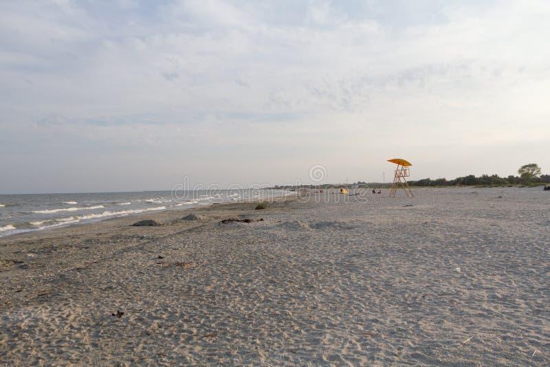 Leeg groot strand in Vadu stock afbeelding