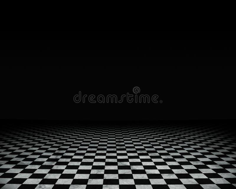 Leeg grungebinnenland vector illustratie