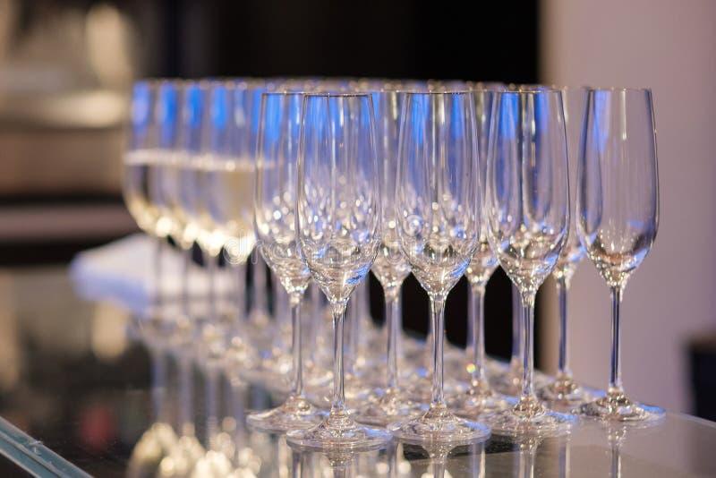 Leeg het glas royalty-vrije stock fotografie