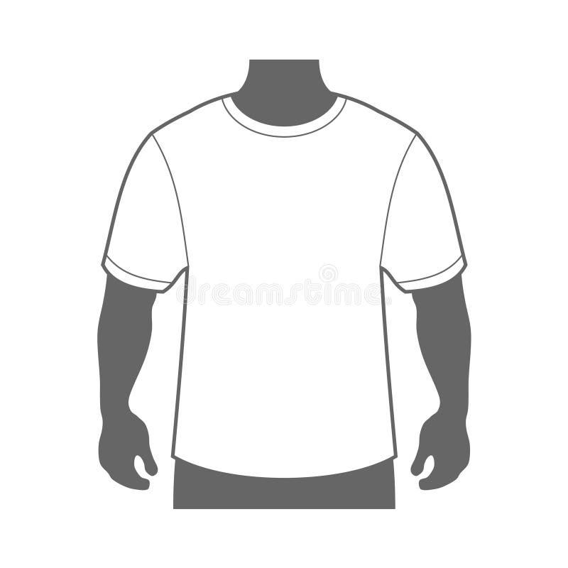 Leeg het Lichaamssilhouet van T-shirtmensen Vector stock illustratie