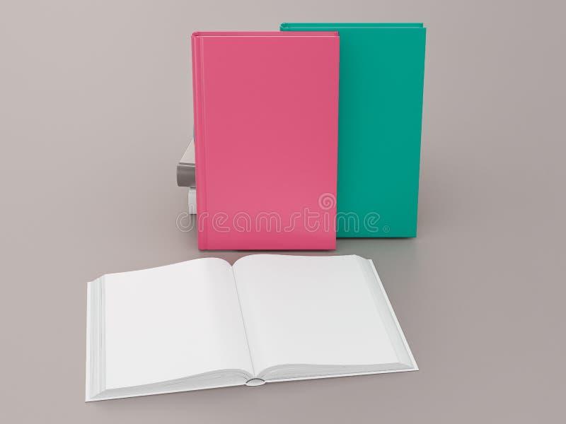 Leeg het modelmalplaatje van het kleurenboek op grijze achtergrond stock fotografie