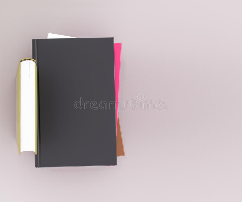 Leeg het modelmalplaatje van het kleurenboek op grijze achtergrond royalty-vrije stock foto's