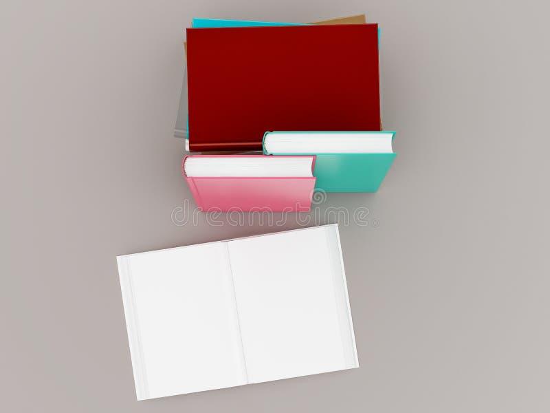Leeg het modelmalplaatje van het kleurenboek op grijze achtergrond stock afbeeldingen